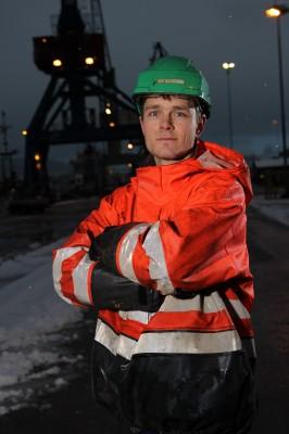 Rudi Pedersen, verneombud og operatør ved Rana Industriterminal AS.