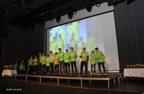 Fra Innmarsjen: B-gjengen fra Båsmo ungdomsskole
