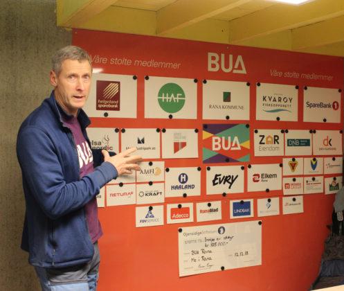Som medlem av BUA får bedriftene plass på sponsorhyllen. Her finner vi mange av selskapene i Mo Industripark og ellers i næringslivet i regionen.