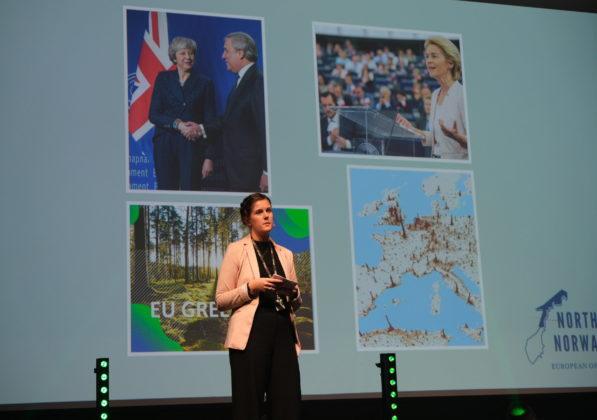 EU-rådgiver for Nord-Norges Europakontor i Brussel, Tina Melfjord oppfordrer Nordland til lå se ut mot Europa og EU.