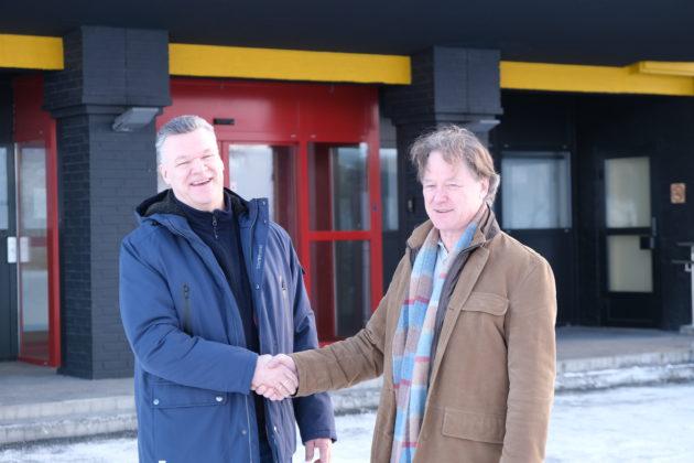 Arne Westgård og Peter Östbergh er begge fornøyd med samarbeidet.