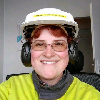 Maren Christina Heyn fra Tyskland har funnet seg godt til rette hos Celsa Armeringsstål.