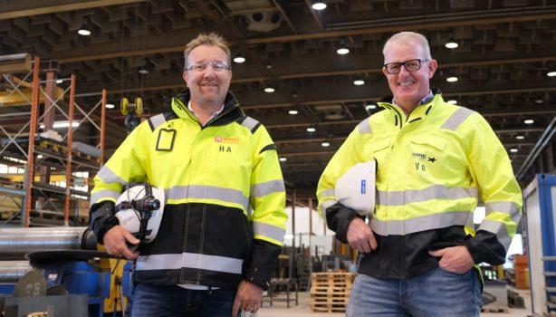 Administrerende direktør i Momek Techteam, Haakon Andersson, daglig leder i Avanti Engineering, Vidar Olsen, ser frem til å begynne med AlumantIQ.