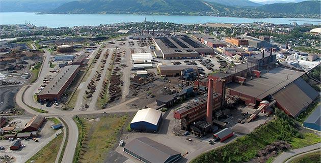 Mo Industripark fra lufta 2012