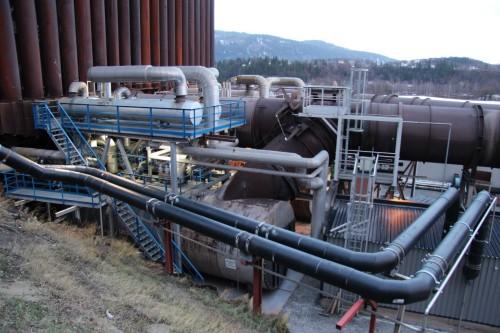 99 prosent av distribueret fjernvarme fra Mo Fjernvarke AS er gjenvunnet overskuddsenergi fra virksomhetene i Mo Industripark.