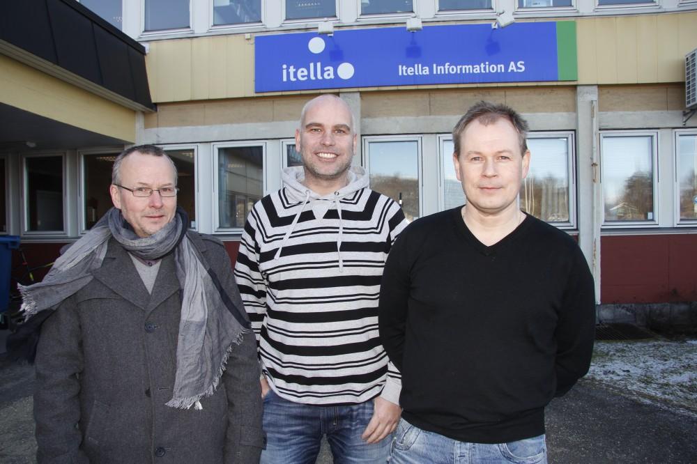 Itella AS har valgt å bytte leverandør av IKT-løsningene. iTet AS har fått oppdraget. - iTet er en leverandør som har skjønt hva vi holder på med. For oss er de ikke bare en leverandør som bistår oss i vår forretningsdrift, men de kan ta oppdrag for oss, og de er delaktig i kundeprosjekter og i kommunikasjonsbiten mot kunder.  Fra venstre avdelingsdirektør ved iTet AS, Arne Steinfjell, rådgiver Frank Sjøvold ved iTet AS, og daglig leder ved Itella Information AS, Geir Bonsaksen