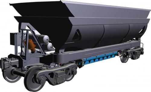 De nye vognene til Rana Gruber AS, produsert av Kiruna Wagon.