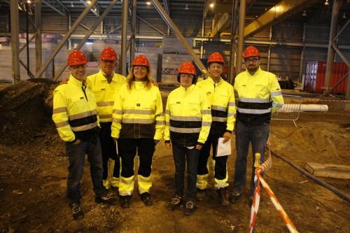 Fra venstre: Odd Einar Rindarøy, Statoil, Tony Reevell, Wasco, Vivian Lorentzen, Wasco, Møyfrid Sandvik, Statoil, Rik Nugteren, Wasco, og Jon Hofstad, Statoil.