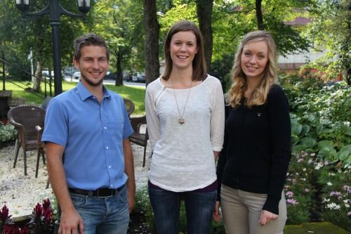 Torstein Myhre (t.v.), Charlotte Bjerkli  og Ine Mari Hansen