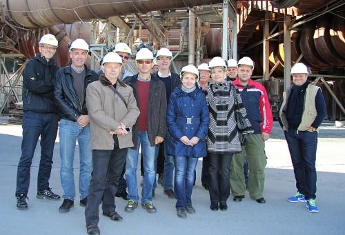 En russisk-norsk delegasjon besøkte Mo Fjernvarme AS den 24. og 25. september.