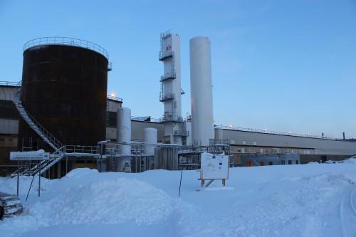 Agas nye luftgassfabrikk i Mo Industripark, desember 2013.
