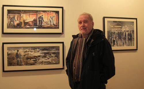 Motiver fra hans tidligere arbeidsplass i adjustasjen er levendegjort i Arne Kalkenbergs bilder, som i november var utstilt  ved Rana Museum. - Tilbakemeldingen har vært svært god, og det inspirerer til å lage flere bilder med motiver fra industrien, sier Arne Kalkenberg.
