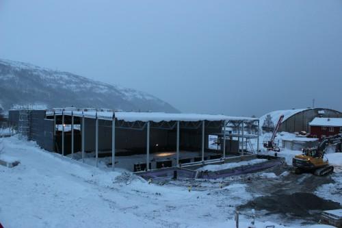 Bilalliansens nybygg i Blåbærveien, desember 2013.