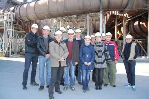 En delegasjon fra Russlands største ferrolegeringsprodusent. Det russiske CHEMK (Chelyabinsk Metallurgical Combinate) ønsket å studere varmegjenvinningskonseptet til Mo Fjernvarme AS.