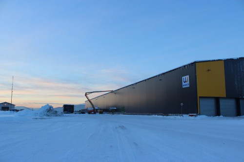 Produksjonsanlegget til Wasco Coatings Norway AS i desember 2013.