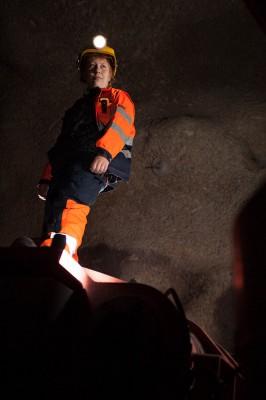 Bodil Grundstrøm, maskinfører ved Rana Gruber AS.