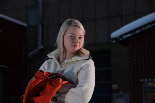 Kine Løseth er en av 54 lærlinger i Ranaindustrien ved årsskiftet 2013-2014. Hun tar læretida si ved valseverket i Celsa Armeringsstål AS.