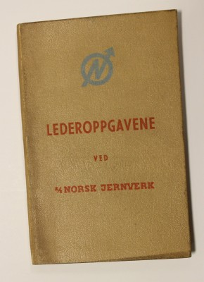 Lederoppgavene ved A/S Norsk Jernverk, fra 1956.