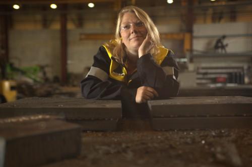 Marianne Lillerødvann, plate- og sveisearbeider ved Miras Grotnes AS