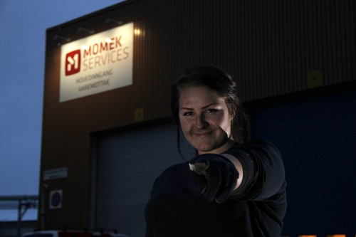 Martine Bratt er industrimekanikerlærling ved Momek Services AS.