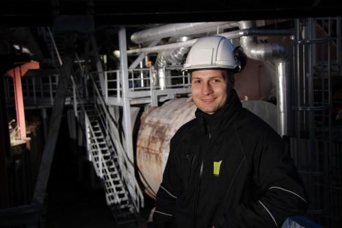 Ronny T. Straum, driftstekniker ved Mo Fjernvarme AS.