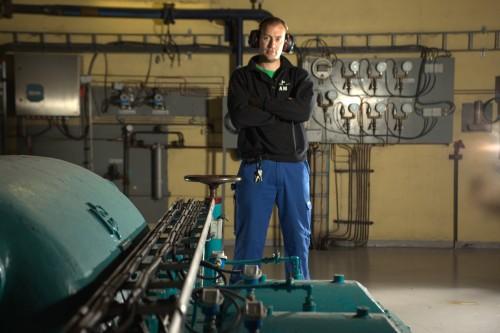 Andreas Morberg, prosesstekniker i Mo Industripark AS, avdeling MIP Energi.
