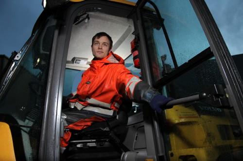 Rudi Pedersen, operatør ved Rana Industriterminal AS.
