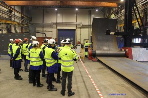 I desember 2013 startet produksjonen av sugeankre for Subsea 7, som skal til Aasta Hansteen-feltet. Bildet er fra bedriftsbesøk under Aasta Hansteen-seminaret 13/2-14.