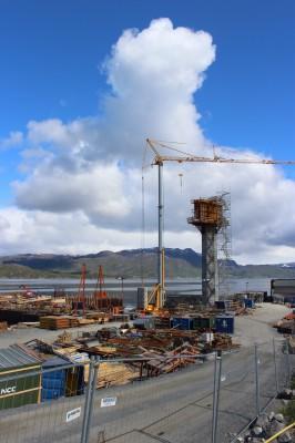 Ett av de større byggeprosjektene i Nord-Norge i år, er Hålogalandsbrua, like nord for Narvik. Her har Celsa Armeringsstål AS levert armeringsstål.