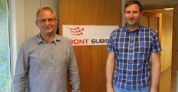Kjell-Ivar Skjærvik (t.v) og Kenneth Storheil jobber i FRONT Subsea og leverer tjenester til oljeselskaper over hele verden.