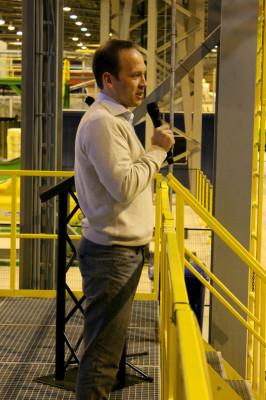 Torger Rød, Senior Vice President i Statoil ASA, la stor vekt på sikkerhet i sin hilsen til Wasco Coatings Norway AS.