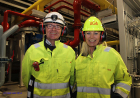 Anlegget i Mo Industripark mottar svært rent kjølevann fra Mo Industripark, forteller Jostein Thomassen og Elin Duus i AGA Norge AS.