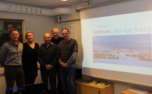 Fra venstre: Henrik Johansen, Christin Kristoffersen, Arve Ulriksen, Ivar Hartviksen, og Reidar Ryssdal.