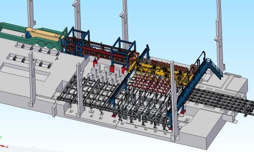 Prinsippskisse for det nye strengstøpeanlegget, med Billetsplukkemaskin (BPM). Illustrasjon: Tim Bredesen.