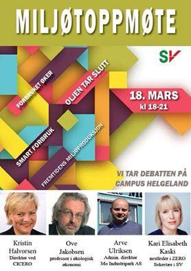 Plakaten for Klimatoppmøtet den 18. mars 2015 på Campus Helgeland