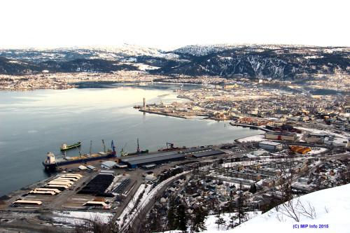 Mo i Rana and Rana Industriterminal, the industrial port.