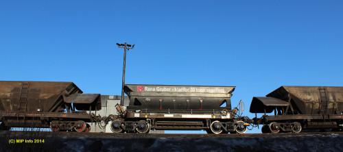 De nye malmvognene til Rana Gruber AS