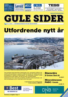 Forsiden av Gule Sider nr. 2, 2015