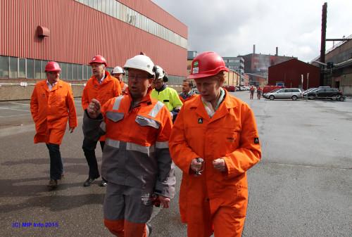 Nav-direktør Kjersti Monland besøkte onsdag 13.mai Celsa Armeringsstål AS.