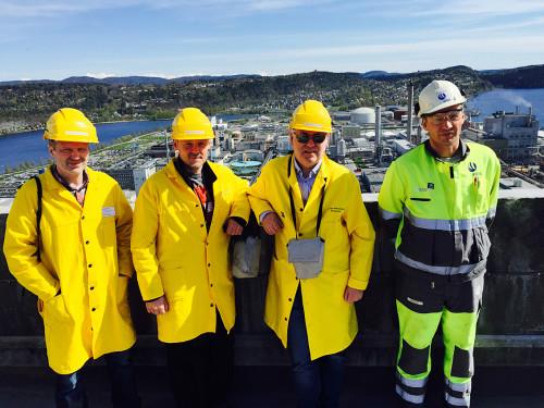 Fra venstre: Jim Rune Fjelldal, Jan Erling Evensen, Odd Husnes, og Øyvind Nyhus.