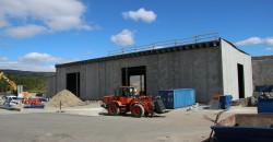 Nytt behandlingsanlegg for restavfall til Østbø Rana AS er snart ferdig.