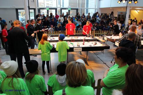 Fra den regionale finalen for FLL i 2014, ved Campus Helgeland.