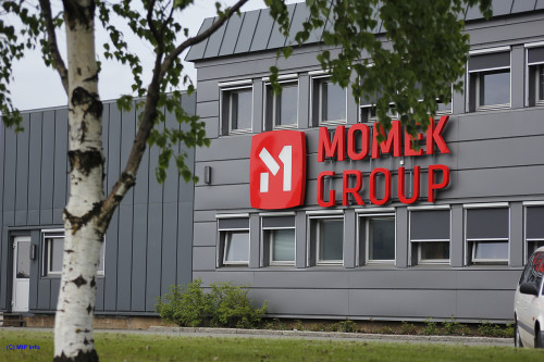 Momeks administrasjonsbygg, det tidligere PreStål-bygget.
