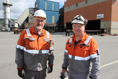 Ulf Olaussen har stått på og utført jobben som ansvarlig ved anlegget i stålverket på en fortreffelig måte, sier Kjell Arne Føinum i Celsa Armeringsstål AS.