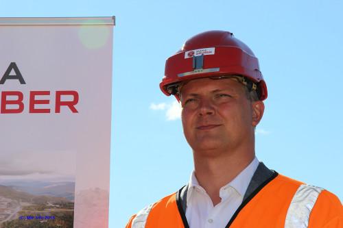 -Oppgraderingen av Dunderlandsbanen er et generasjonsprosjekt, da det er en langsiktig satsing på infrastruktur, sa samferdselsminister Ketil Solvik-Olsen.