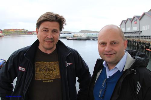 Daglig leder Odd Strøm ved Nova Sea AS og adm. dir. Arve Ulriksen ved Mo Industripark AS.
