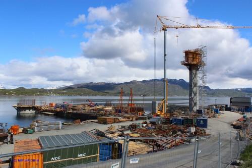 - Den lille snevre delen som stålproduktene utgjør i prosjekter innenfor bygg og anlegg kan utgjøre mye i forhold til de totale utslippene av CO2, sier Halvard Meisfjord. Bildet er fra Hålogalandsbrua utenfor Narvik, tatt i 2014.