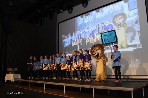 Fra Innmarsjen: Team Future fra Lyngheim barneskole